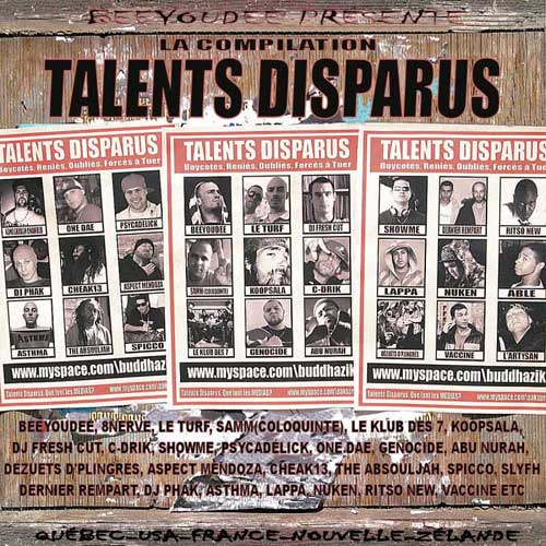 Cover de l'album Talents Disparus Vol.1